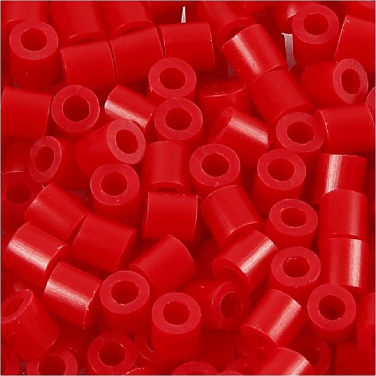 Strijkkralenstrijkkralen rood 6000 stuks