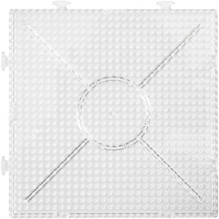 onderplaat strijkkralen vierkant 15 cm 2 stuks