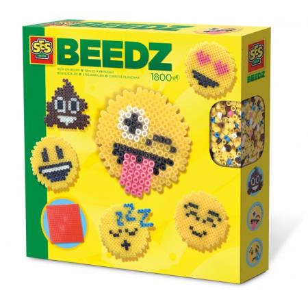 strijkkralenset Beedz Emoticons junior 1800 stuks